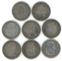 8 1893 Columbian Commemorative Half Dollars