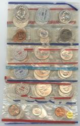 5 Unc. Silver 10pc Mint Sets 1959-62 in cellophane