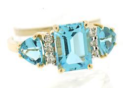 Amazing Blue Topaz and Diamond Ring