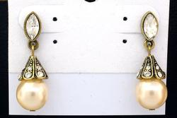 Art Deco Vintage Pearl Earrings