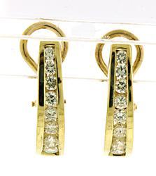 Fantastic 1ctw Diamond J Hoop Earrings