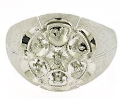 Gents 7 Diamond Cluster Ring