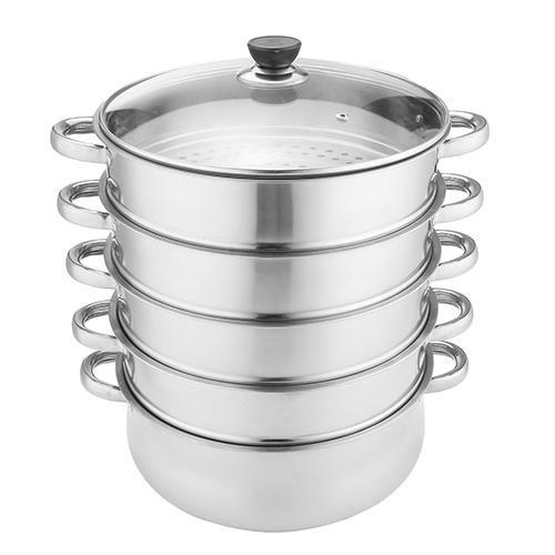30cm 5 Tier Stainless Steel Steamer Saucepan Pot