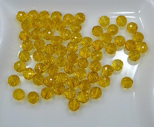 Citrine Stones, 104 Count 7mm Faceted Round Beads