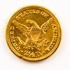 Raw US 1905 Quarter Eagle Gold