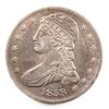 1838 Reeded Edge Bust Half Near Uncirculated Toned