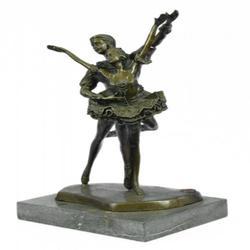 Ballerina Poised Dancer Bronze Sculpture