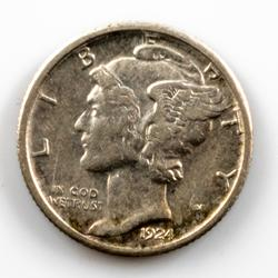 Near Unc 1924 S Mercury Dime.