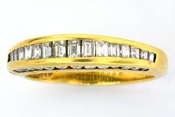 Glittering Diamond Half-Band Ring
