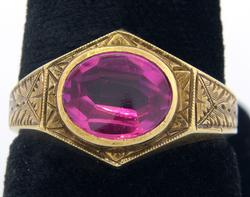 Vintage Approx. 1.6CT Pink Sapphire Ring