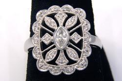 Vintage Diamond Rectangular Ring