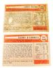 2 Bowman Milwaukee Braves 1954 Baseball Cards