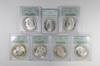 Lot (7) MS64 1885 & 1885-O Morgan Silver Dollars - OGH - Graded PCGS