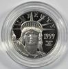 Gem Ultra Cameo PRF 1999-W $25 Platinum Eagle. Box/COA