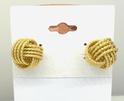 14KT Braided Rope Ball Earrings