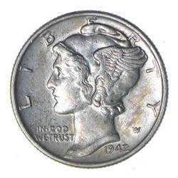 1942/1 Mercury SIlver Dime - Choice