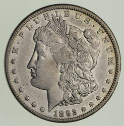 1892-CC Morgan Silver Dollar - Choice