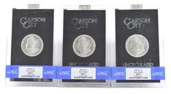 (3) MS63 1882-CC 1882-CC 1883-CC Morgan Silver Dollars GSA Hoard - NGC