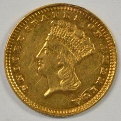 Very Scarce 1882 US Type 3 $1 Gold Piece in AU