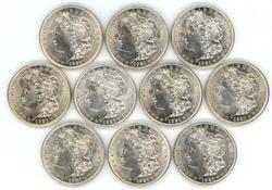 Choice BU half roll of ten (10) 1921 Morgan Dollars