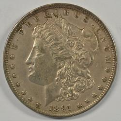 Needle-sharp 1891-CC Morgan Silver Dollar. Nice