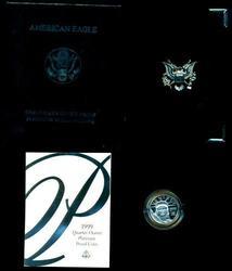 Gem Ultra Cameo PRF 1999-W $25 Platinum Eagle. Box/COA