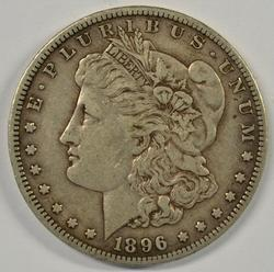 Sharp key date 1896-S Morgan Silver Dollar
