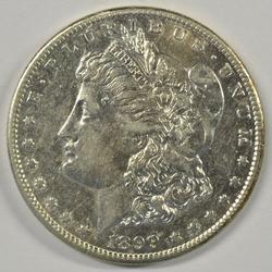 Near Mint 1899-S Morgan Silver Dollar. Tougher date