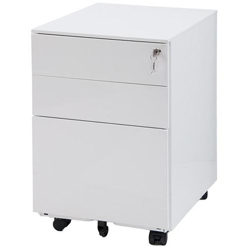 3 Drawers Mobile File Cabinet Document Cabinet w/ Lock