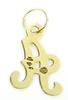 14K Yellow Gold Initial A Pendant or Charm