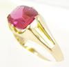 Early Large Genuine Natural Ruby Ring in 14K Gold