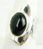 Wide Retro Solid Sterling Onyx Ring, Size 8