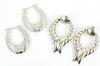 2 Pairs of Vintage Sterling Silver Earrings