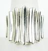 Stellar Wide Ribbed Sterling Silver Ring, Size 10