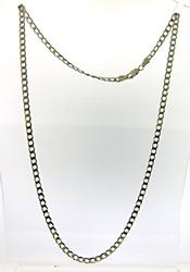 Vintage Sterling Silver Curb link Necklace