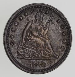 1876 Seated Liberty Quarter - Near Uncirculated