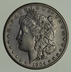 1904-S Morgan Silver Dollar - Circulated