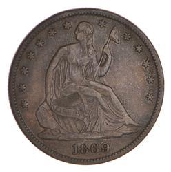 1869 Seated Liberty Half Dollar - Circulated