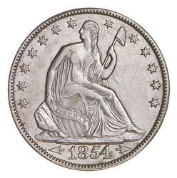 1854 Seated Liberty Half Dollar - Near Uncirculated