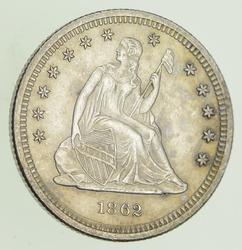 1862 Seated Liberty Quarter - Choice
