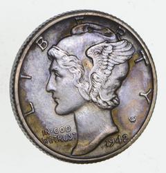 1942/1-D Mercury Silver Dime - Near Uncirculated