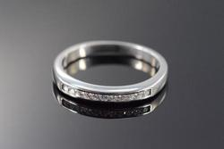 High End Platinum Diamond Wedding Band