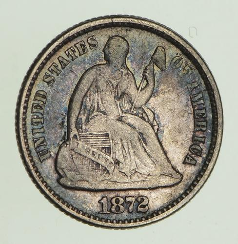 1872 Seated Liberty Half Dime - Circulated