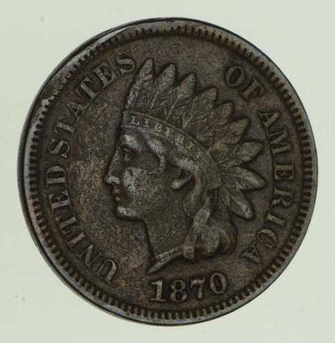 1870 Indian Head Cent - Circulated