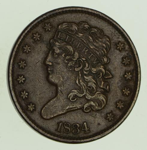 1834 Classic Head Half Cent - Circulated