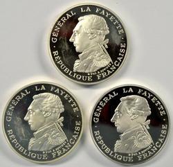 3 France PRF 1987 100 Francs LaFayette Silver Piedfort