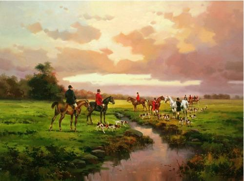 Pristine Landscape Painting by Salvador Caballero