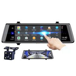 10 Inch 1080P Touch Screen Dual Lens Car Rearview DVR