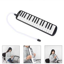 Electric Guitar 32-Key Melodica with Mouthpiece