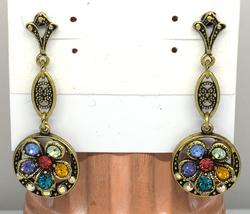 Rainbow Flower Vintage Earrings